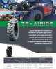 Black Traction Telehandler Tire & Wheel Assembly 13.00 x 24 - Free Freight!