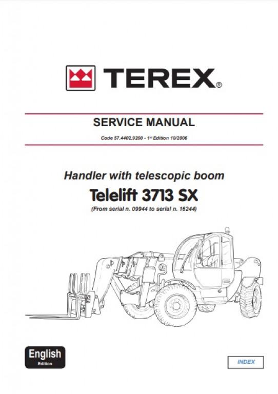Buy 2006 Genie Terex Service Manual: Telelift 3713 SX (P/N