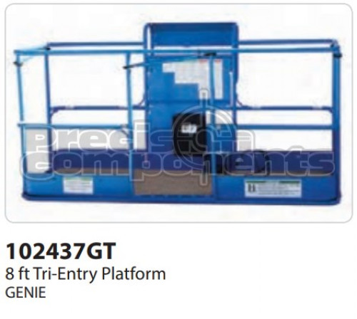 Genie 8' Tri-Entry Platform Assembly with Decals ANSI - Part Number 102437