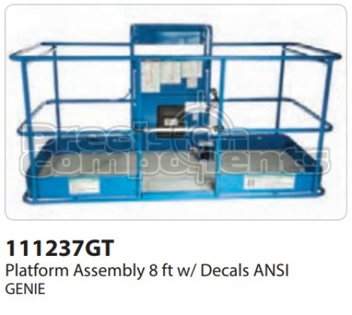Genie Platform Assembly 8 Ft. with Decals ANSI - Part Number 111237