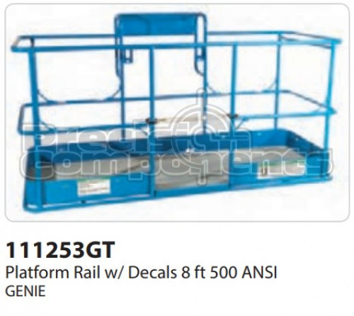 Genie Platform Rail with Decals 8 Ft. 500 ANSI - Part Number 111253