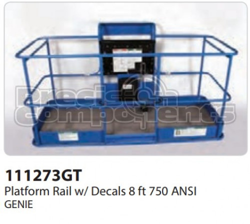 Genie Platform Rail Assembly, 8 Ft. ANSI - Part Number 111273