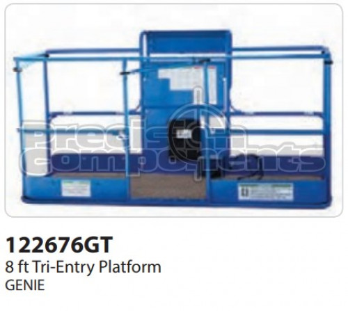 Genie 8 Ft. Tri Entry Assembly Platform with Decals ANSI - Part Number 122676