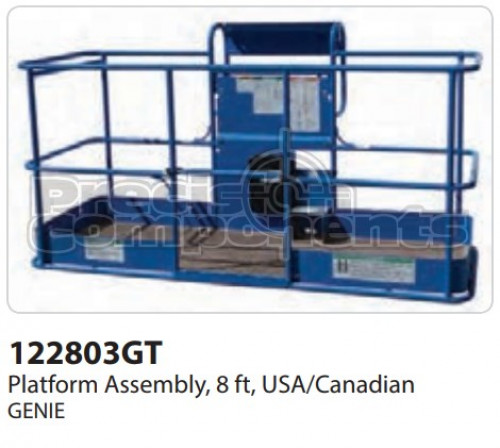 Genie Platform Assembly, 8 Ft. USA/CAN - Part Number 122803
