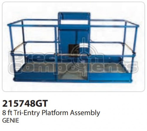 Genie Platform Assembly Tri Entry, 8' - Part Number 215748