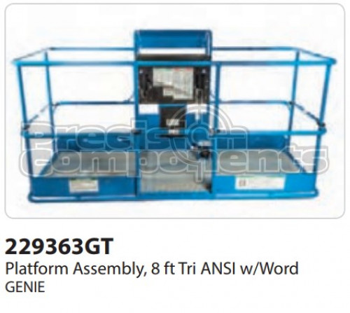 Genie Platform Assembly, 8' Tri ANSI with Word - Part Number 229363