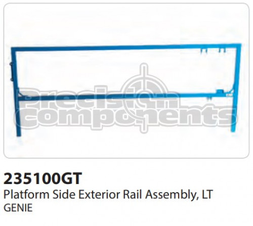Genie Platform Side Extension Rail Assembly, LT - Part Number 235100