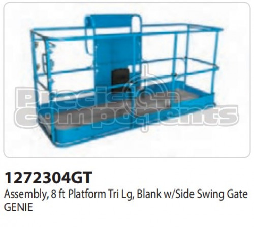 Genie Assembly, 8 Ft. Platform Tri LG Blank with Side Swing Gate - Part Number 1272304
