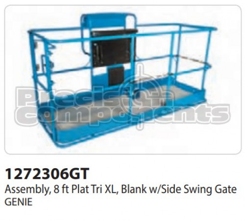 Genie Assembly, 8 Ft. Platform Tri XL, Blank with Side Swing Gate - Part Number 1272306