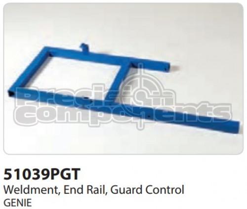Genie Weldment, End Rail, Ground Controls - Part Number 51039P
