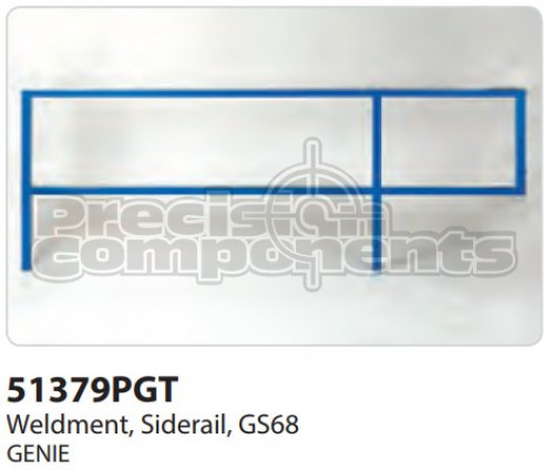 Genie Weldment, Siderail GS68 - Part Number 51379P
