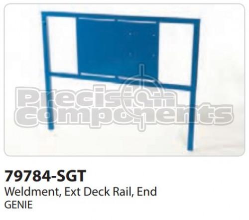 Genie Weldment, Extension Deck Rail End - Part Number 79784-S