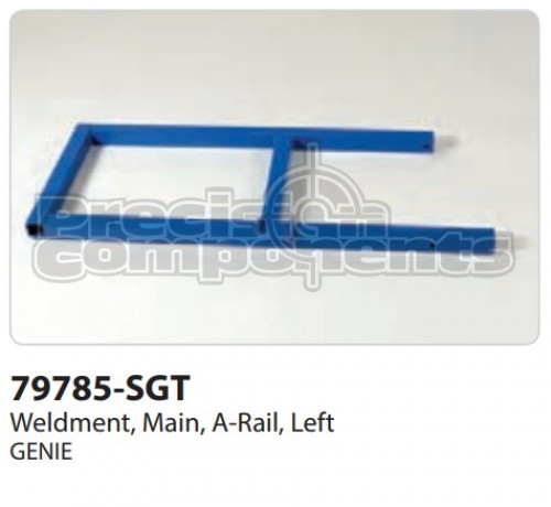 Genie Weldment, Main, A-Rail Left - Part Number 79785-S