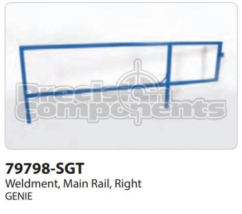 Genie Weldment, Main Rail, Right - Part Number 79798-S