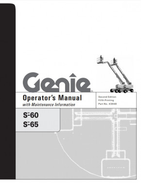 Buy 2006 Genie Operator's Manual: S-60 and S-65 Boom Lifts