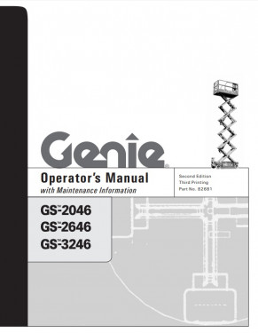 2004 genie operator's manual: gs2046, gs2646 and gs3246 scissor lifts -  part number 82681