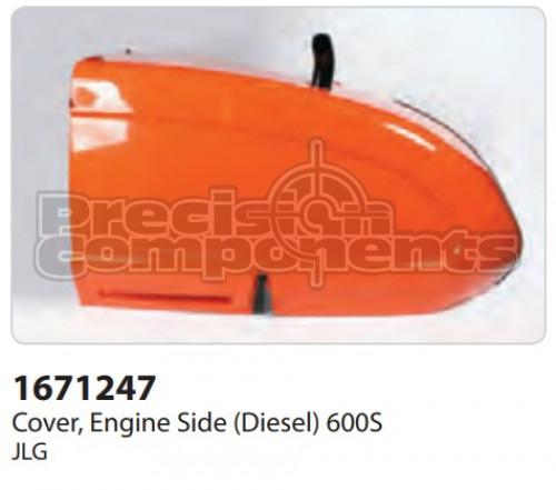 JLG Cover, Engine Side (Diesel) 600S - Part Number 1671247