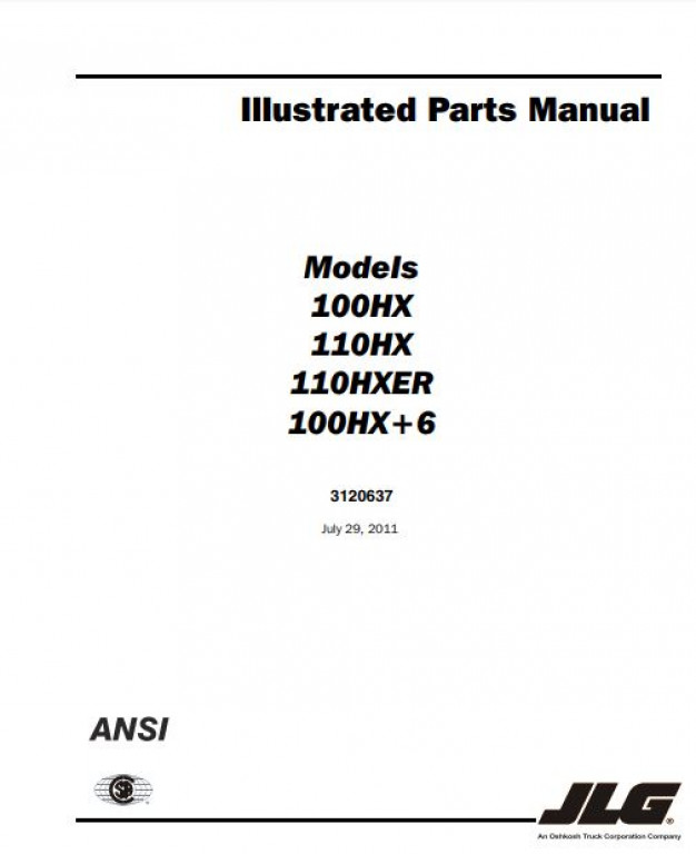 jlg 40h parts manual