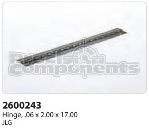 JLG Hinge, (.06 x 2.00 x 17.00) - Part Number 2600243