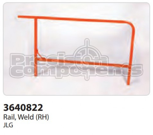 JLG Rail, Weldment (RH) - Part Number 3640822