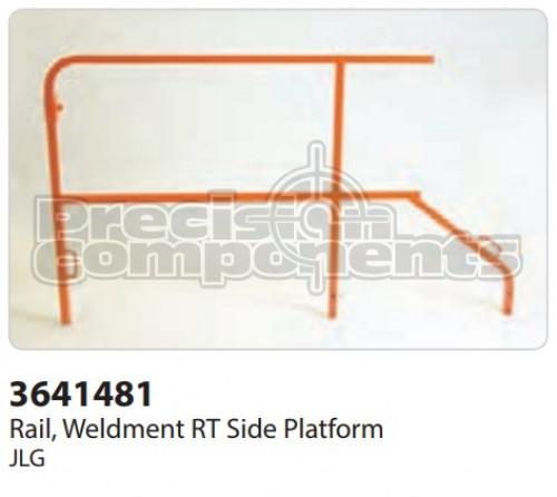 JLG Rail, Weldment RT Side Platform - Part Number 3641481