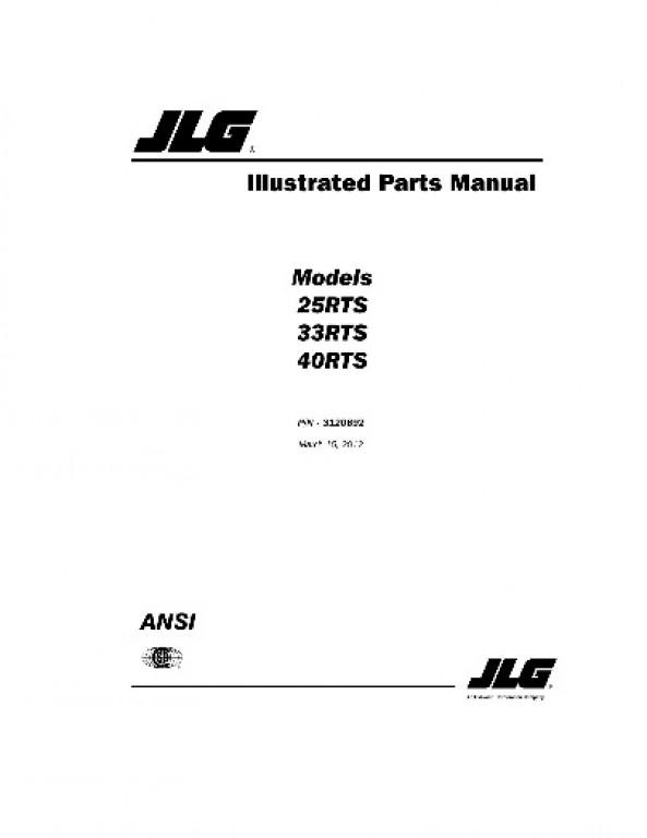 Buy 2012 JLG Illustrated Parts Manual: 25RTS, 33RTS and