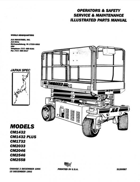 Buy 1995 JLG Operators & Safety, Service & Maintenance, Illustrated