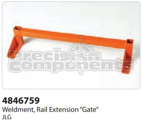 JLG Weldment, Rail Ext.