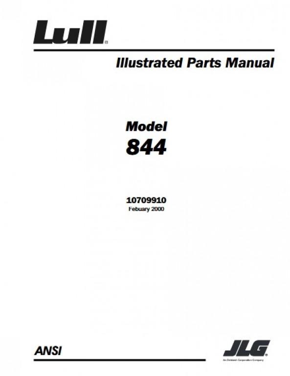 Buy 2000 JLG Illustrated Parts Manual 844 P N 10709910