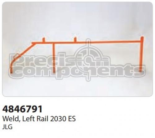 JLG Weldment, Left Rail 2030ES - Part Number 4846791
