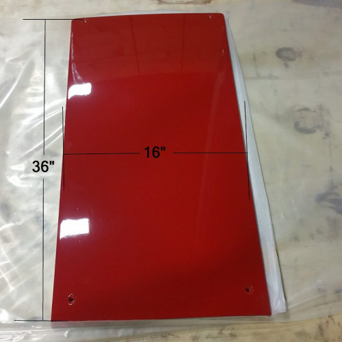 Original OEM CaseIH Rear Hood Cover For 4 Cylinder With Underslung Exhaust Model - Part Number 138242A1