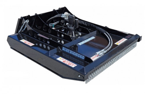 Blue Diamond Brush Cutter Skid Steer Attachment, Heavy-Duty, 60