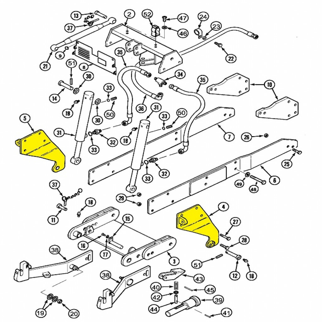 Buy Original OEM Front 3 Point Hitch Pivot Plates Renew Kit