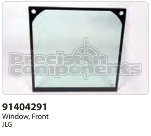 JLG Window, Front - Part Number 91404291