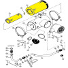 Original OEM Inner And Outer Air Filter Value Kit For J.I. Case Models 2870, 4890 And 4894 - Part Number A45694-A45695