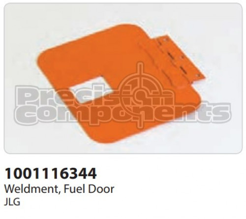 JLG Weldment, Fuel Door - Part Number 1001116344
