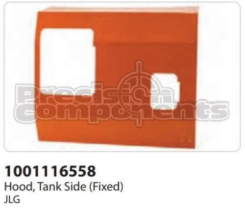 JLG Hood, Tank Side (Fixed) - Part Number 1001116558
