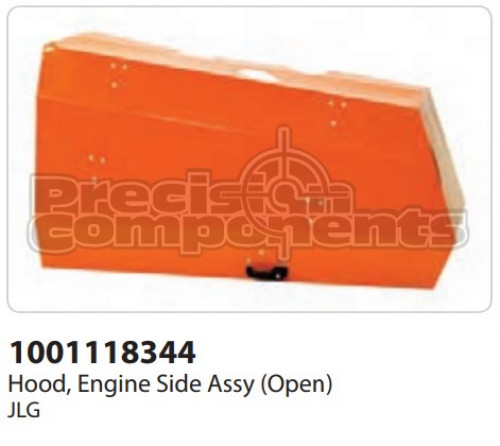 JLG Hood, Engine Side Assembly (Open) - Part Number 1001118344