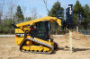 Blue Diamond Hydraulic Post Driver Skid Steer Attachment With Grapple Kit And Tilt