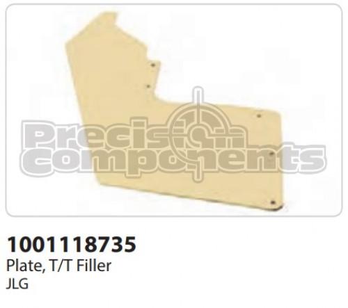 JLG Plate, T/T Filler - Part Number 1001118735