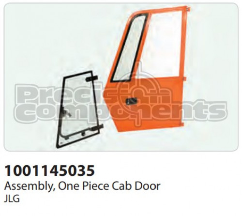 JLG Assembly, One Piece Cab Door - Part Number 1001145035