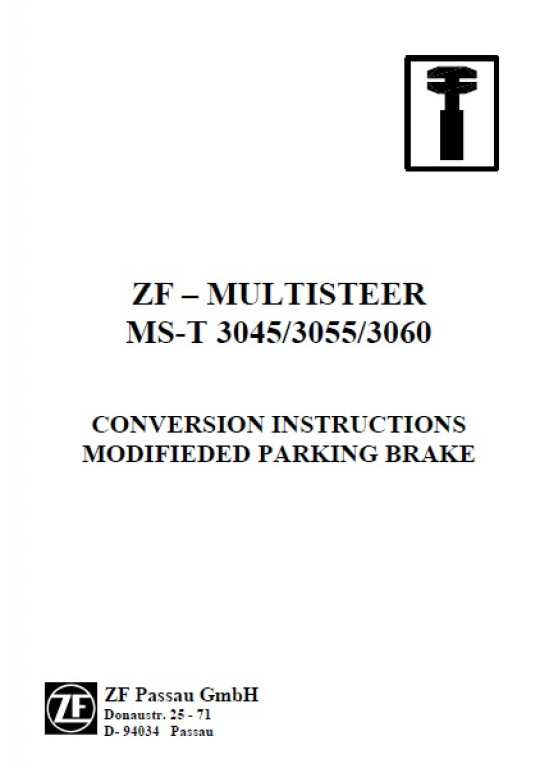 Buy JLG CONVERSION INSTRUCTIONS MODIFIEDED PARKING BRAKE: ZF