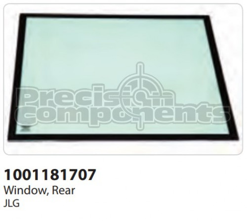 JLG Window, Rear - Part Number 1001181707