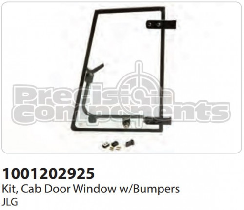 JLG Kit, Cab Door Window with Bumpers - Part Number 1001202925