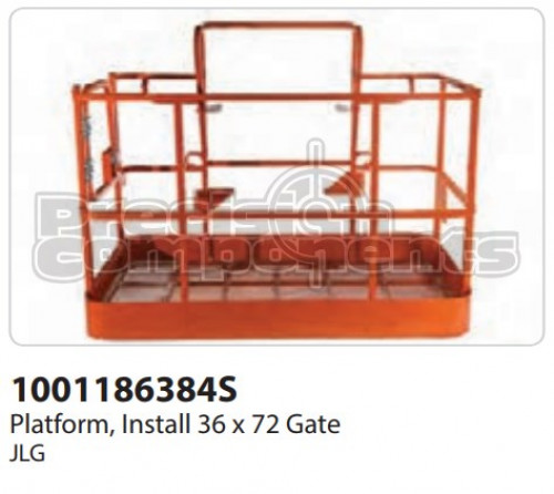 JLG Platform, Install (36 x 72) Gate - Part Number 1001186384S