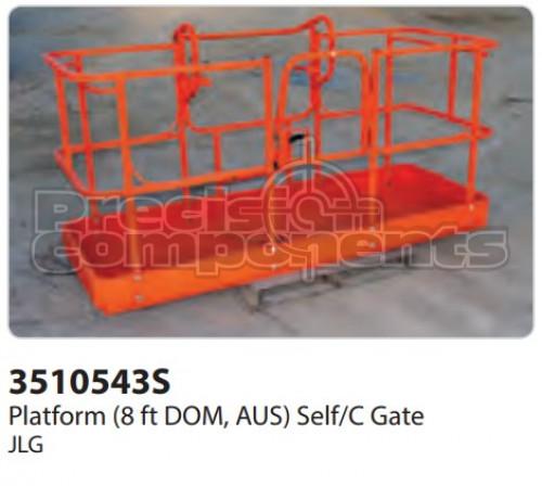 JLG Platform (8 ft. DOM, AUS) Self/C Gate - Part Number 3510543S