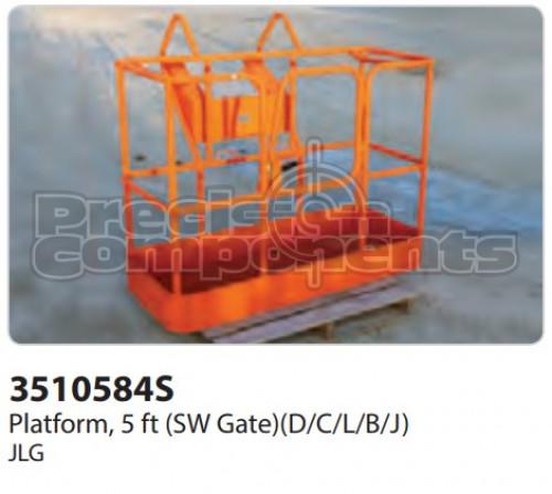 JLG Platform, 5 ft. (SW Gate) (D,C,L,B,J) - Part Number 3510584S