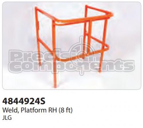 JLG Weldment, Platform RH (8 ft.) - Part Number 4844924S