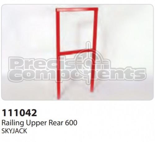 SkyJack Railing Upper Rear 600 - Part Number 111042