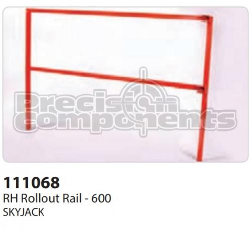 SkyJack Rail, LH Slide Out Rail 600 - Part Number 111068
